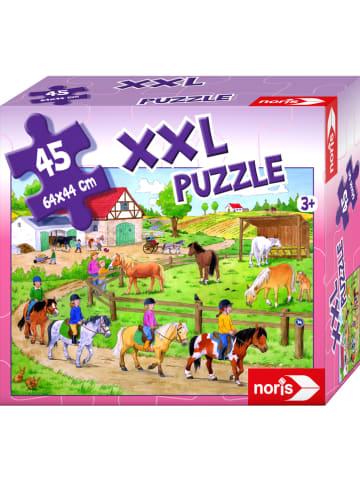 """Noris 45tlg. Riesenpuzzle  """"Ferien auf dem Ponyhof"""" - ab 3 Jahren"""