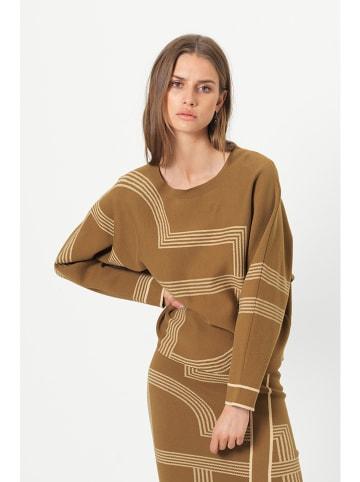 """SECOND FEMALE Sweter """"Taura"""" w kolorze jasnobrązowym"""