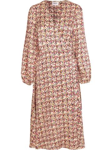 """SECOND FEMALE Sukienka """"Decor"""" w kolorze beżowo-jasnoróżowym"""