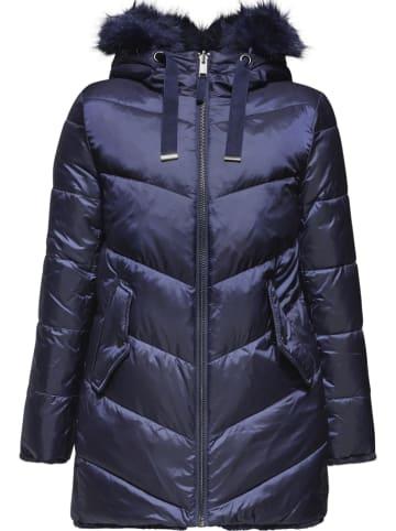 ESPRIT Płaszcz zimowy w kolorze granatowym