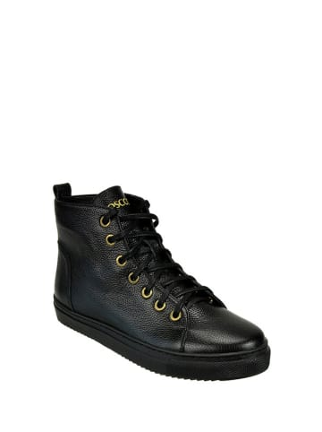 BOSCCOLO Skórzane sneakersy w kolorze czarnym