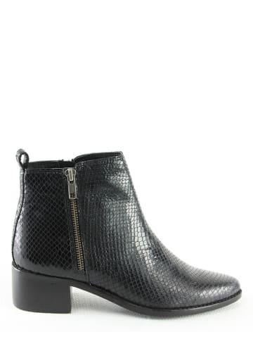"""Manoukian shoes Leren enkelboots """"Penelope"""" zwart"""