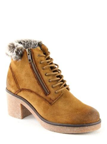 """Manoukian Leren boots """"Peyton"""" camel"""