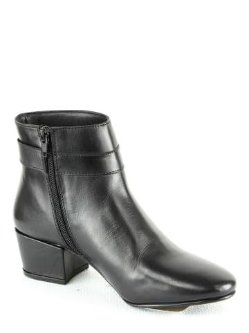 "Manoukian Leder-Ankle-Boots ""Rivka"" in Schwarz"