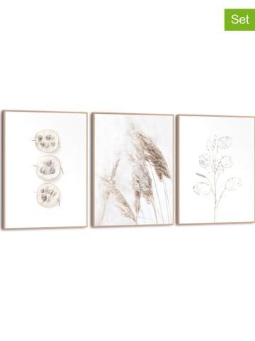 """Orangewallz Druki artystyczne (3 szt.) """"Nature"""" w ramce - 30 x 40 cm"""
