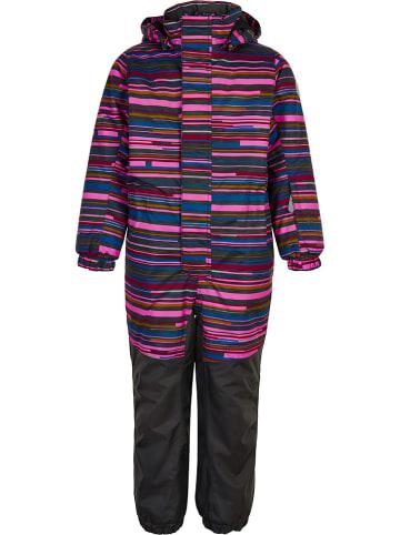 Color Kids Kombinezon zimowy w kolorze jasnoróżowo-czarnym