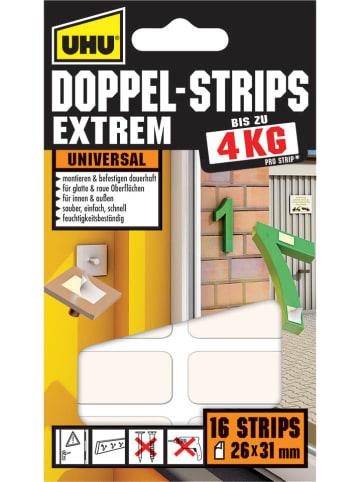 "UHU Klebepads ""Doppel Strips Extrem"" - 16 Stück"