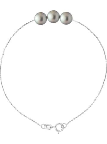 "Pearline Srebrna bransoletka ""Traversantes"" z perłą"