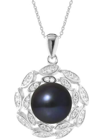 Pearline Srebrny naszyjnik z zawieszką - dł. 42 cm