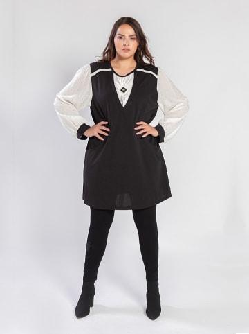POMME ROUGE Kleid in Schwarz/ Weiß