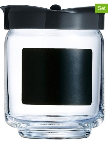 Luminarc Pojemniki (6 szt.) w kolorze czarnym na przyprawy - 280 ml