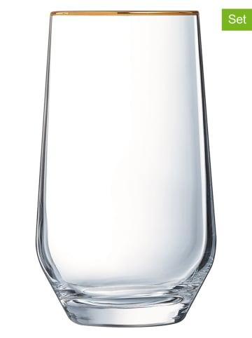 Luminarc 4-delige set: glazen goudkleurig - 400 ml