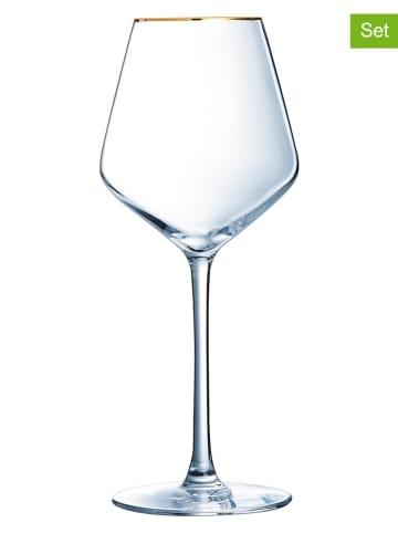 Luminarc Kieliszki (4 szt.) w kolorze złotym do wina - 470 ml