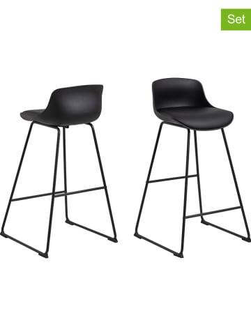 "AC Design 2-delige set: barkrukken ""Tina"" zwart - (B)43 x (H)94 x (D)49 cm"