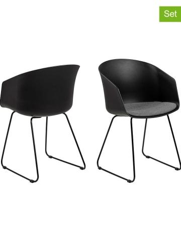 """AC Design Krzesła (2 szt.) """"Moon"""" w kolorze czarnym - 51 x 81 x 51,5 cm"""