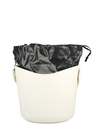 """O Bag Torebka """"Basket"""" w kolorze kremowo-czarnym - (W)22 x Ø 20 cm"""
