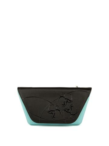 """O Bag Torebka """"Sheen"""" w kolorze czarno-turkusowym - (S)28 x (W)15 cm"""