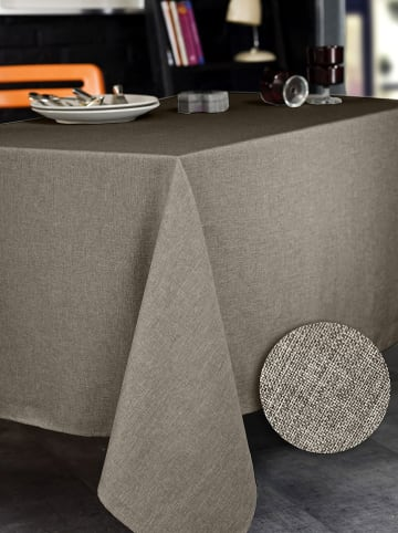 """Calitex Tischdecke """"Brome"""" in Taupe"""