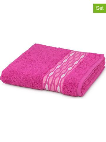 """Möve 3-delige set: handdoeken """"Pearl Strings"""" roze"""