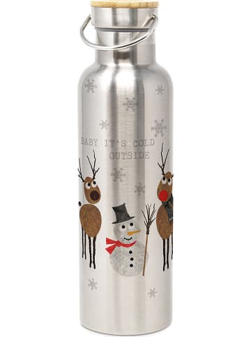 """Ppd Roestvrijstalen drinkfles """"Cold outside"""" - 750 ml"""