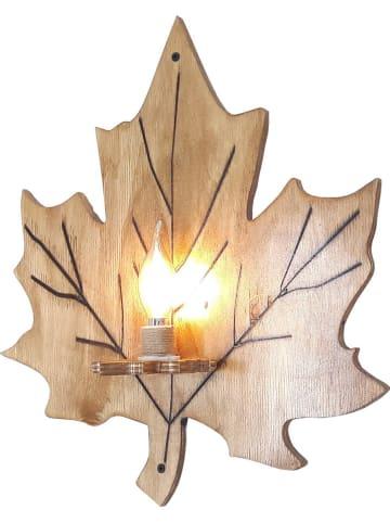 Evila Lampa ścienna w kolorze brązowym - 44 x 45 x 12 cm