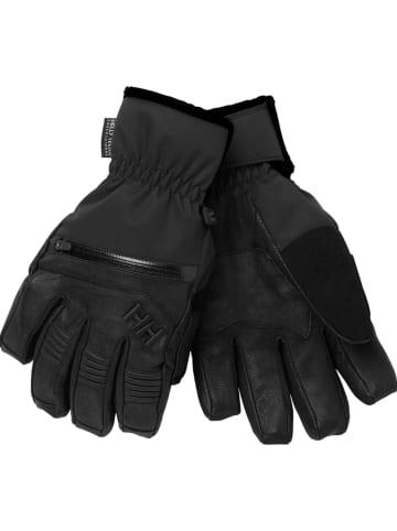 Helly Hansen Skórzane rękawiczki w kolorze czarnym