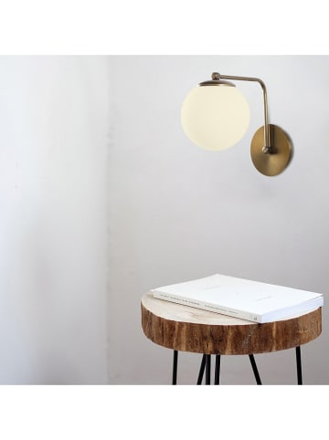 "Mioli Wandlamp ""Daisy"" goudkleurig - (B)15 x (H)26 cm"