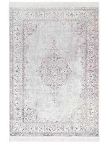 "Nouristan Geweven tapijt ""Oriental Vintage Medaillon - Samt"" lichtroze"