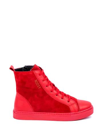 Noosy Leren sneakers rood