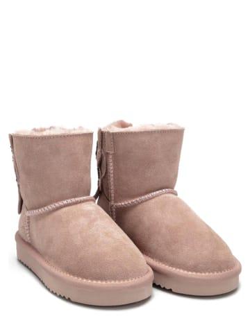 Lelli Kelly Leder-Boots in Altrosa
