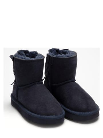 Lelli Kelly Leder-Boots in Dunkelblau