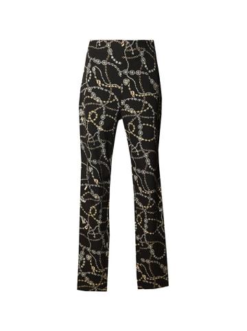 Pinko Spodnie w kolorze czarnym ze wzorem