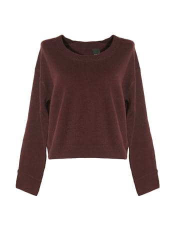 Pinko Kaszmirowy sweter w kolorze bordowym