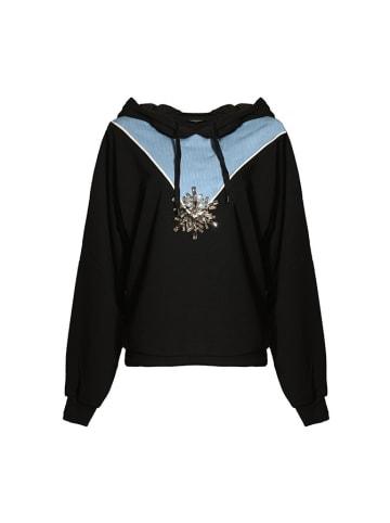 Pinko Bluza w kolorze czarno-niebieskim