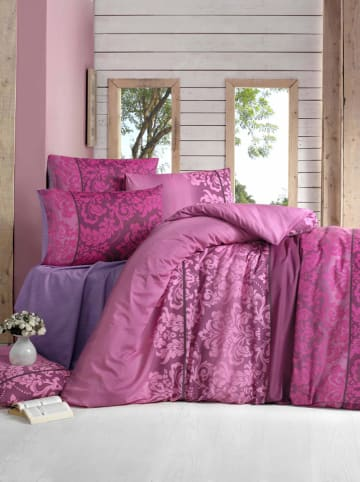 Colorful Cotton Komplet pościeli w kolorze różowym