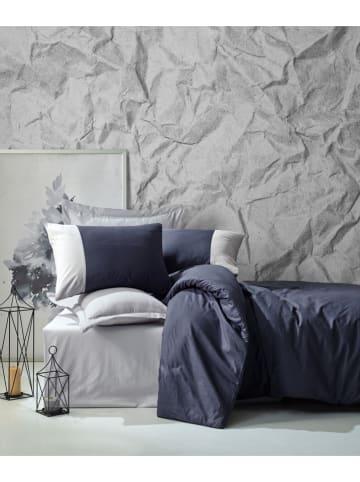 Colourful Cotton Renforcé beddengoedset donkerblauw/grijs