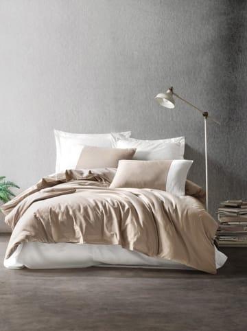 Colourful Cotton Renforcé beddengoedset lichtbruin/crème