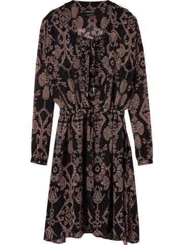 Scotch & Soda Sukienka w kolorze czarno-jasnoróżowym