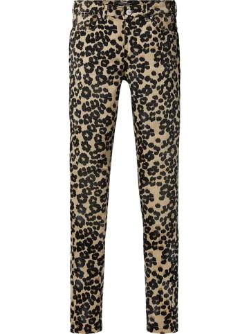 Scotch & Soda Spodnie - Skinny fit - w kolorze beżowo-czarnym