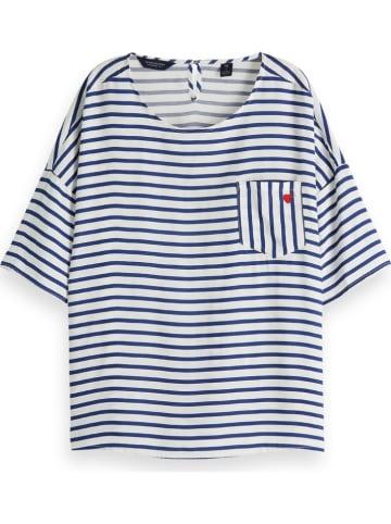 Scotch & Soda Koszulka w kolorze niebiesko-białym