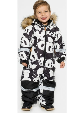 """HULABALU Kombinezon zimowy """"Panda"""" w kolorze czarno-białym"""