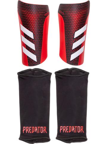 """Adidas Scheenbeenbeschermers """"Pred SG LGE"""" zwart/rood"""