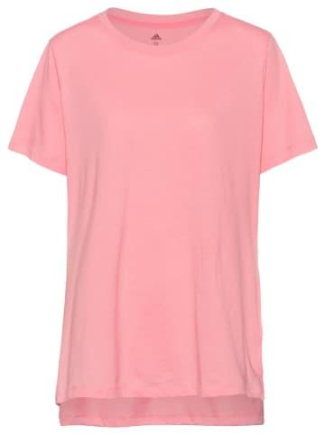 """Adidas Koszulka """"Plus Size"""" w kolorze jasnoróżowym"""