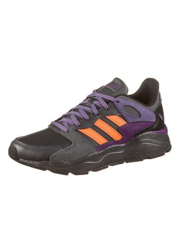 """Adidas Skórzane sneakersy """"Crazychaos"""" w kolorze szaro-fioletowo-pomarańczowym"""