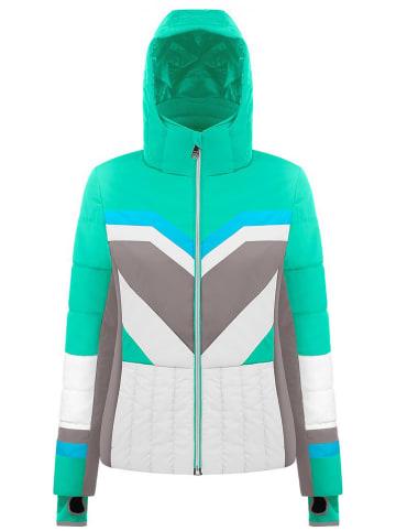 Poivre Blanc Kurtka narciarska w kolorze jasnozielonym ze wzorem