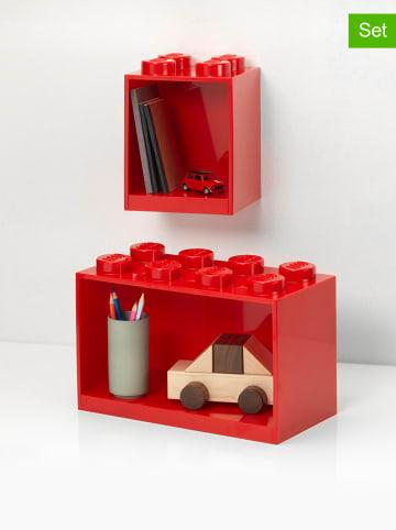 """LEGO Regał """"Brick"""" w kolorze czerwonym - 21,5 x 32 x 16 cm"""
