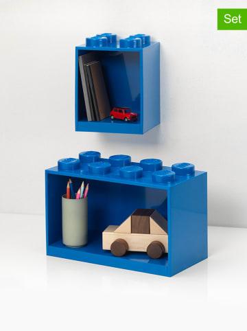 """LEGO Regał """"Brick"""" w kolorze niebieskim - 21,5 x 32 x 16 cm"""
