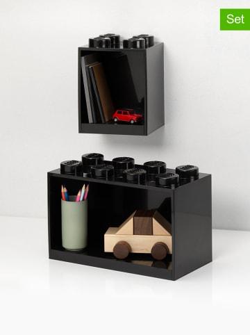 """LEGO Regał """"Brick"""" w kolorze czarnym - 21,5 x 32 x 16 cm"""