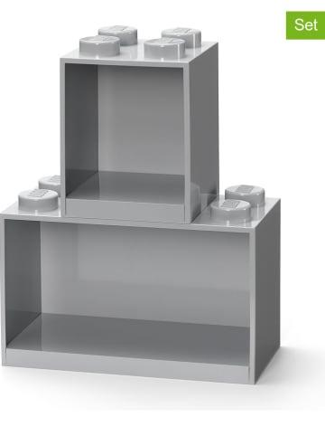 """LEGO Kast """"Brick"""" grijs - (B)21,5 x (H)32 x (D)16 cm"""