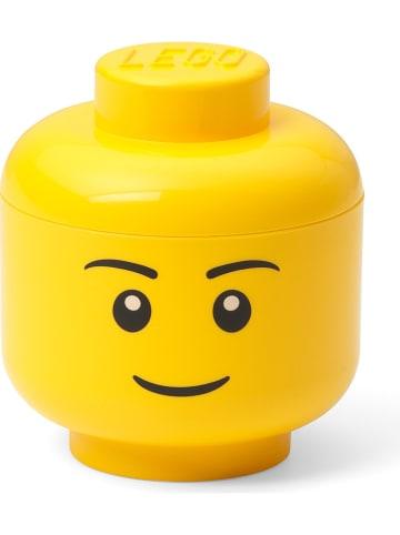 """LEGO Pojemnik """"Boy"""" w kolorze żółtym - wys. 11,5 x Ø 10,2 cm"""